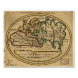 Ancient Map of the World - unknown date Poster