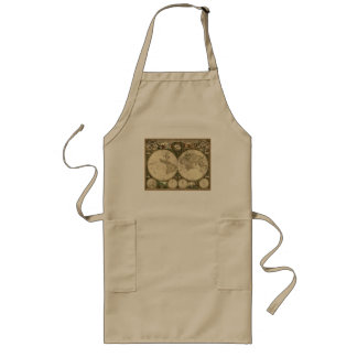 Ancient Map Series Long Apron