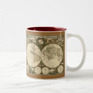 Ancient Map Series Two-Tone Coffee Mug