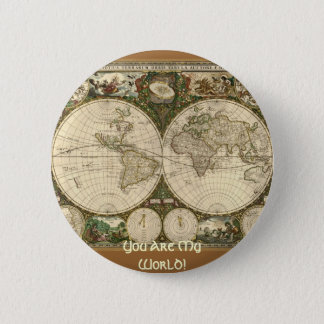 Ancient Map Series Pinback Button