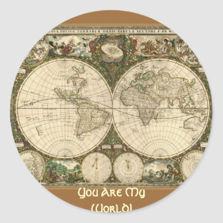 Ancient Map Series Round Stickers