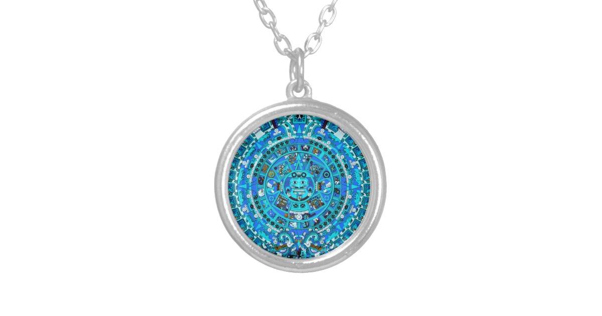 Ancient mayan aztec calendar pendant necklace zazzle aloadofball Images
