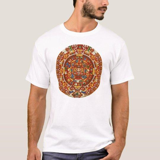 Ancient Mayan Aztec Calendar Symbol Tee Shirt  ~