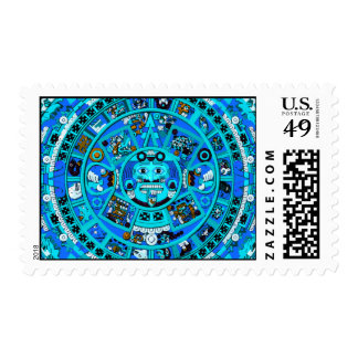 Ancient Mayan Aztec Postage Stamp