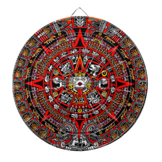 Ancient Mayan Aztec Record of Days Dartboard