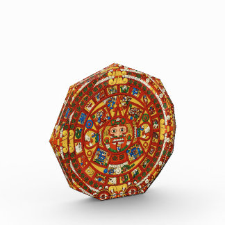 Ancient Mayan Aztec Symbol Acrylic Award