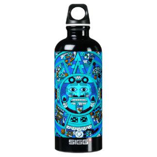 Ancient Mayan Aztec Symbol - End of World ?! Aluminum Water Bottle