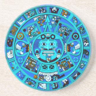 Ancient Mayan Aztec Symbol - End of World ?! Drink Coasters