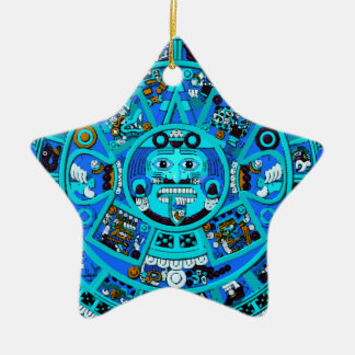 Ancient Mayan Aztec Symbol - End of World ?! Christmas Ornaments