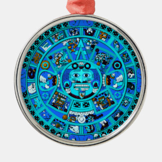 Ancient Mayan Aztec Symbol - End of World ?! Christmas Tree Ornaments