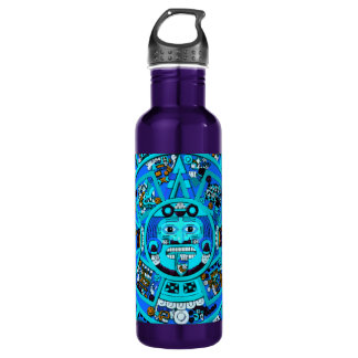 Ancient Mayan Aztec Symbol - End of World ?! Stainless Steel Water Bottle