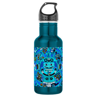 Ancient Mayan Aztec Symbol - End of World ?! Water Bottle