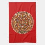 Ancient Mayan Aztec Symbol Kitchen Towels