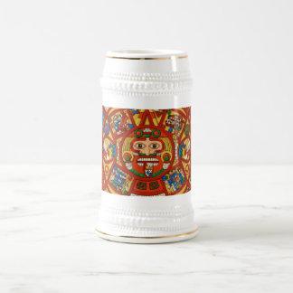 Ancient Mayan Beer Stein ~