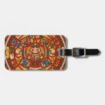 Ancient Mayan Calendar Symbol Bag Tags