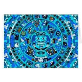 Ancient Mayan Calendar Symbol Greeting Card