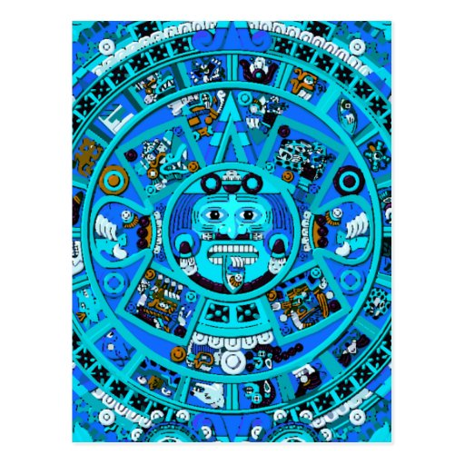 Ancient Mayan Calendar Symbol Post Cards