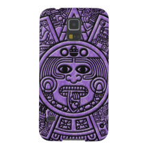 Ancient Mayan Maya Calendar in Purple Barely There Galaxy S5 Case