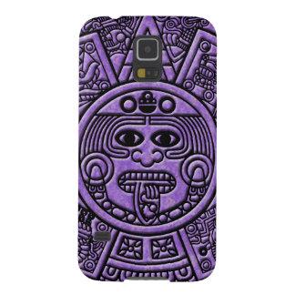 Ancient Mayan Maya Calendar in Purple Galaxy S5 Case