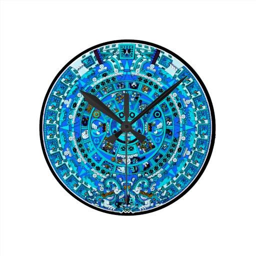 ancient mayan maya calendar symbol wall clock zazzle
