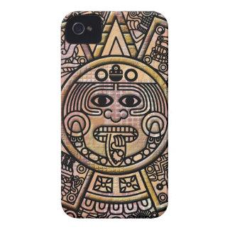 Ancient Mayan Maya Disk Carving Case-Mate iPhone 4 Cases
