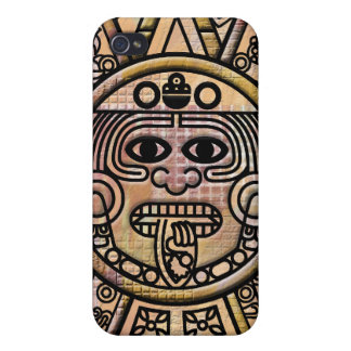Ancient Mayan Maya Disk Carving Cases For iPhone 4