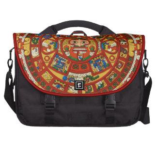 Ancient Mayan Prophetic  Calendar Laptop Commuter Bag
