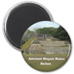 Ancient Mayan Ruins, Belize 2 Inch Round Magnet