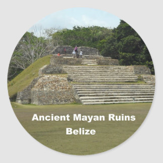 Ancient Mayan Ruins, Belize Classic Round Sticker
