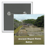 Ancient Mayan Ruins, Belize Pinback Button