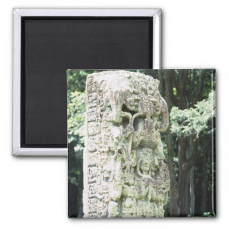 Ancient Mayan Ruins Photo Designed Square Magnet