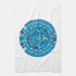 Ancient Mayan Sun Calendar Symbol Towel