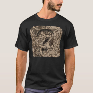 Ancient Mayan UFO - Carving on Pacal's Sarcophagus T-Shirt
