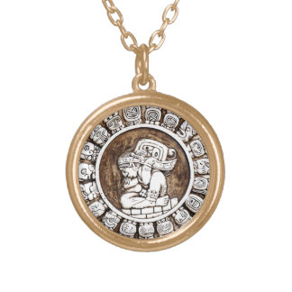 Ancient Mayan Zodiac Necklace