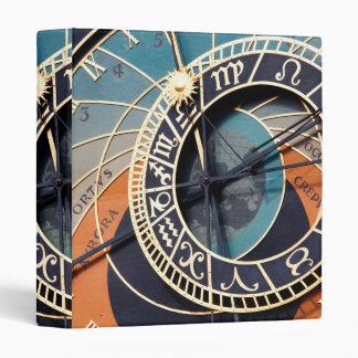Ancient Medieval Astrological Clock Czech Binder