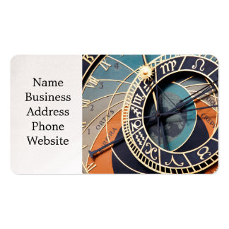 Ancient Medieval Astrological Clock Czech Double-Sided Standard Business Cards (Pack Of 100)