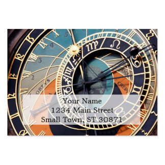 Ancient Medieval Astrological Clock Czech Large Business Cards (Pack Of 100)