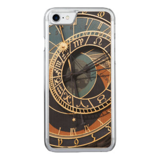 Ancient Medieval Astrological Clock Czech Carved iPhone 7 Case