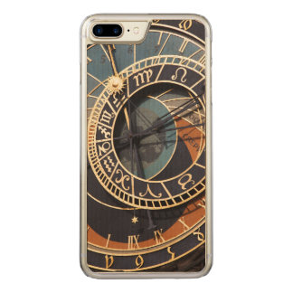 Ancient Medieval Astrological Clock Czech Carved iPhone 7 Plus Case
