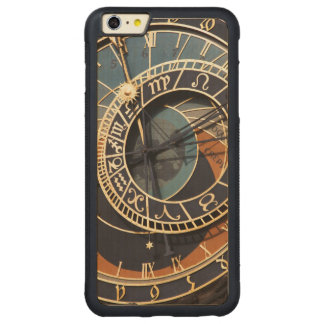 Ancient Medieval Astrological Clock Czech Carved Maple iPhone 6 Plus Bumper Case