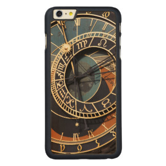 Ancient Medieval Astrological Clock Czech Carved Maple iPhone 6 Plus Slim Case