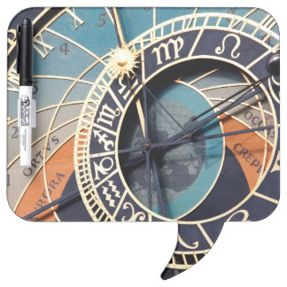 Ancient Medieval Astrological Clock Czech Dry Erase Board