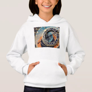 Ancient Medieval Astrological Clock Czech Hoodie