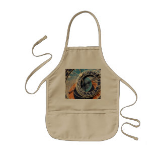Ancient Medieval Astrological Clock Czech Kids' Apron