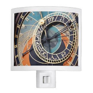 Ancient Medieval Astrological Clock Czech Night Light