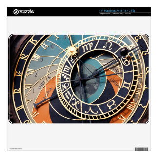 Ancient Medieval Astrological Clock Czech Skin For The MacBook Air