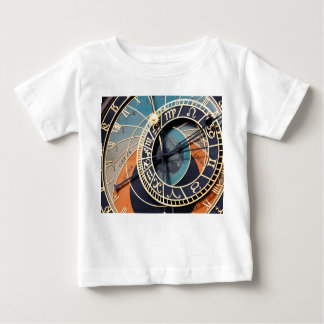 Ancient Medieval Astrological Clock Czech Tee Shirt