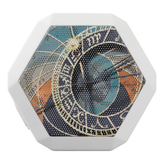 Ancient Medieval Astrological Clock Czech White Bluetooth Speaker