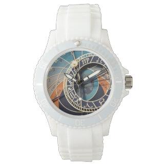 Ancient Medieval Astrological Clock Czech Wrist Watch