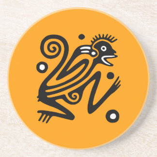 Ancient Mexican Art Sandstone Coaster